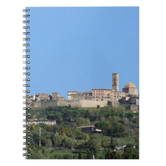 Panorama of Volterra village, province of Pisa Notebook