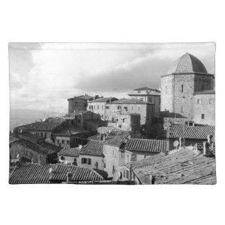 Panorama of Volterra village, province of Pisa Placemat