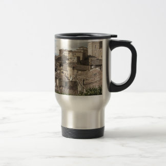 Panorama of Volterra village, province of Pisa Travel Mug