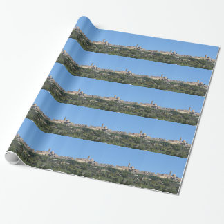 Panorama of Volterra village, province of Pisa Wrapping Paper