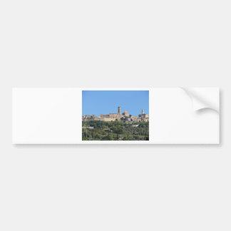 Panorama of Volterra village . Tuscany, Italy Bumper Sticker