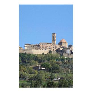 Panorama of Volterra village, Tuscany, Italy Customized Stationery