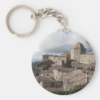 Panorama of Volterra village, Tuscany, Italy Key Ring