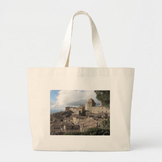 Panorama of Volterra village, Tuscany, Italy Large Tote Bag
