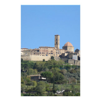 Panorama of Volterra village . Tuscany, Italy Personalised Stationery