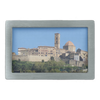 Panorama of Volterra village . Tuscany, Italy Rectangular Belt Buckle