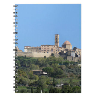 Panorama of Volterra village, Tuscany, Italy Spiral Notebook