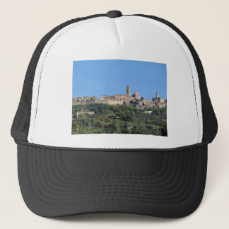 Panorama of Volterra village, Tuscany, Italy Trucker Hat