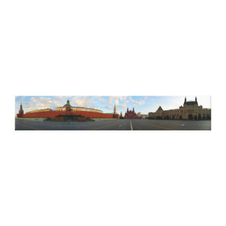 Panorama View of Red Square in Moscow Russia Canvas Print