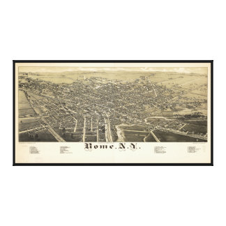 Panorama View of Rome New York (1886) Canvas Prints