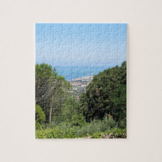 Panoramic aerial view of Livorno city Jigsaw Puzzle