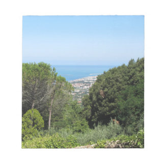 Panoramic aerial view of Livorno city Notepad