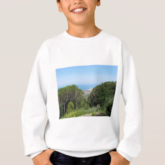 Panoramic aerial view of Livorno city Sweatshirt