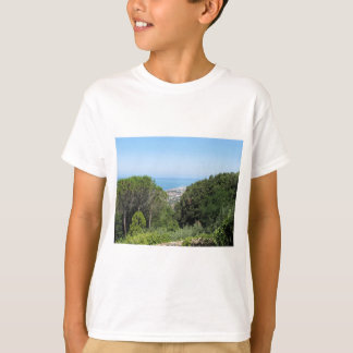 Panoramic aerial view of Livorno city T-Shirt