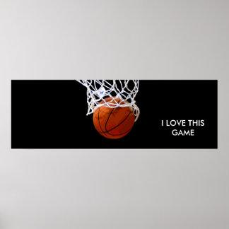 Panoramic Basketball Poster