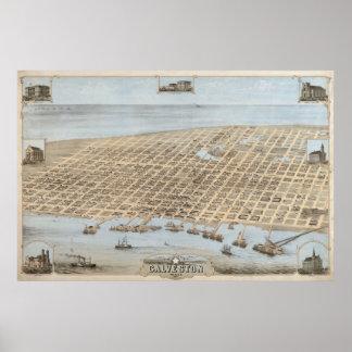 Panoramic Galveston Poster