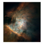 Panoramic Image of Centre of the Orion Nebula Poster