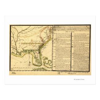 Panoramic Map (Spanish Language) Postcard