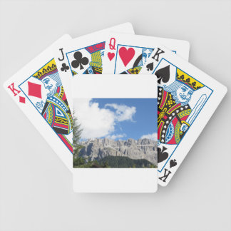 Panoramic mountain view of the Dolomites Bicycle Playing Cards