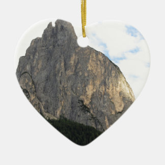 Panoramic mountain view of the Dolomites Ceramic Heart Decoration