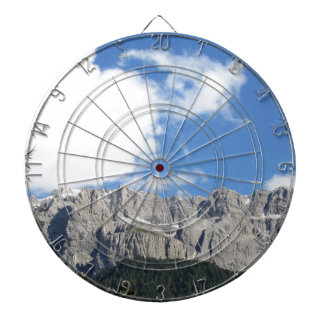 Panoramic mountain view of the Dolomites Dartboard