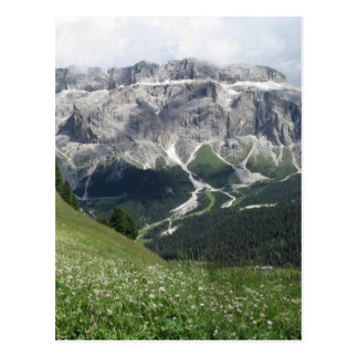 Panoramic mountain view of the Dolomites Postcard