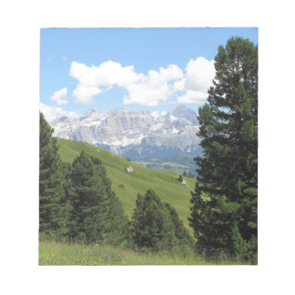 Panoramic mountain view of the italian Dolomites Notepad