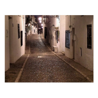 Panoramic of street of Altea Postcard
