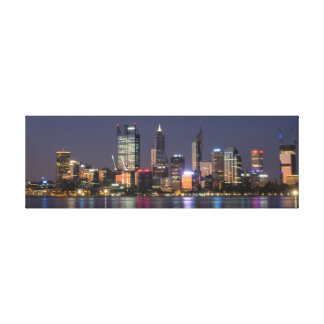 Panoramic Perth City Skyline Canvas Stretched Canvas Print