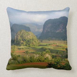 Panoramic valley landscape, Cuba Cushion