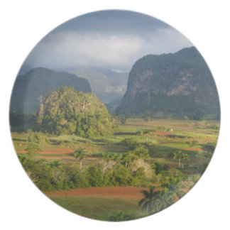 Panoramic valley landscape, Cuba Plate