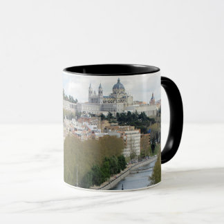 Panoramic view of Almudena Cathedral Mug