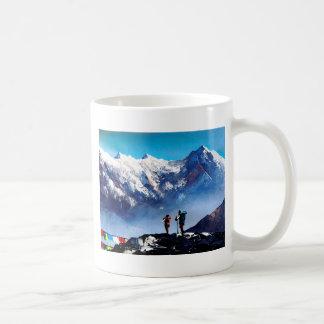 Panoramic View Of Ama Dablam Peak Everest Mountain Coffee Mug