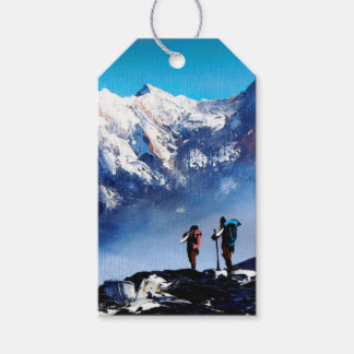 Panoramic View Of Ama Dablam Peak Everest Mountain Gift Tags