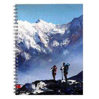 Panoramic View Of Ama Dablam Peak Everest Mountain Notebooks