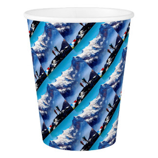 Panoramic View Of Ama Dablam Peak Everest Mountain Paper Cup