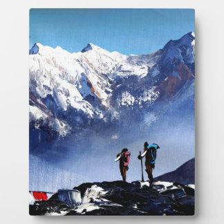 Panoramic View Of Ama Dablam Peak Everest Mountain Plaque