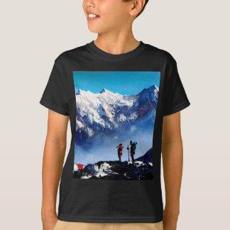 Panoramic View Of Ama Dablam Peak Everest Mountain T-Shirt
