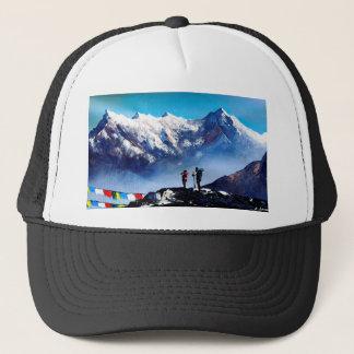 Panoramic View Of Ama Dablam Peak Everest Mountain Trucker Hat