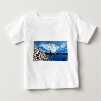 Panoramic View Of Annapurna Mountain Nepal Baby T-Shirt