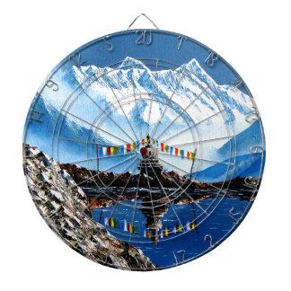 Panoramic View Of Annapurna Mountain Nepal Dartboard
