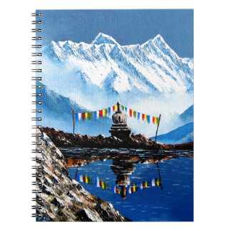 Panoramic View Of Annapurna Mountain Nepal Notebook