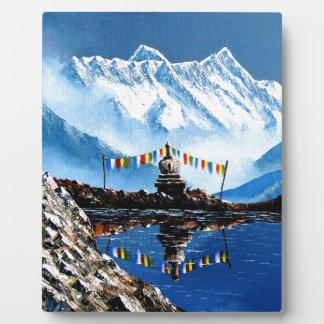 Panoramic View Of Annapurna Mountain Nepal Plaque