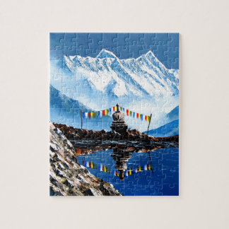 Panoramic View Of Annapurna Mountain Nepal Puzzles