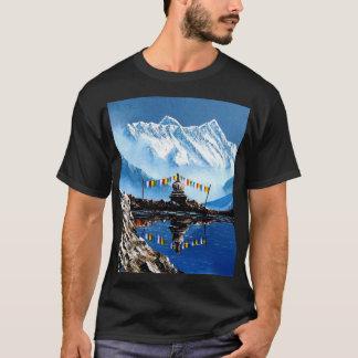 Panoramic View Of Annapurna Mountain Nepal T-Shirt