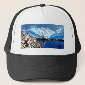Panoramic View Of Annapurna Mountain Nepal Trucker Hat