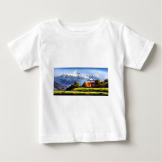 Panoramic View Of Beautiful Everest Mountain Baby T-Shirt