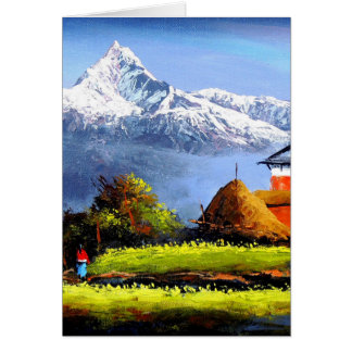 Panoramic View Of Beautiful Everest Mountain Card