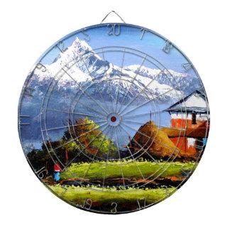 Panoramic View Of Beautiful Everest Mountain Dart Board