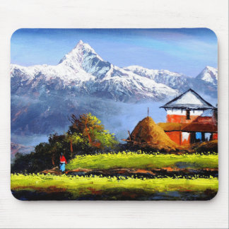 Panoramic View Of Beautiful Everest Mountain Mouse Pad
